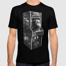DONKEY KONG ARCADE MACHINE Black Mens Fitted Tee LARGE