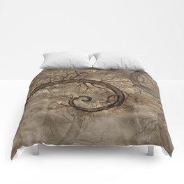 Golden Spiral Tree #2 Comforters