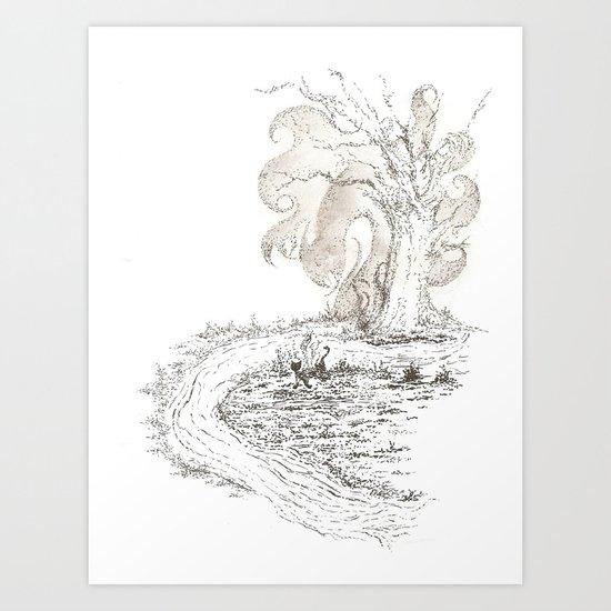 storybook autumn Art Print