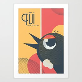 Tui Bird New Zealand Art Print
