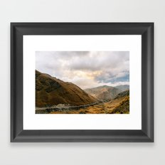 Andean Road Framed Art Print