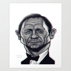 Daniel Craig as James Bond / B&W Variant Art Print