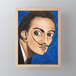 Salvador Dalí portrait Framed Mini Art Print