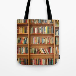 Bookshelf Books Library Bookworm Reading Tote Bag
