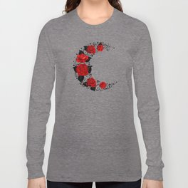 Moon of Red Roses Long Sleeve T-shirt