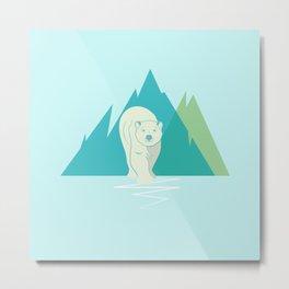 Polar Bear North Pole Arctic Animal Metal Print