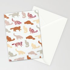cats pattern Stationery Cards