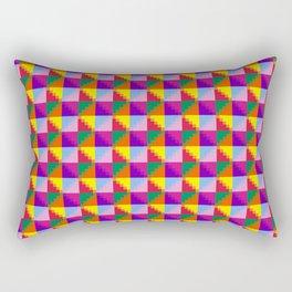 Eight Triangles Pixel Rectangular Pillow