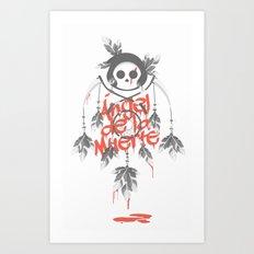 Angel de la Muerte - RED Art Print