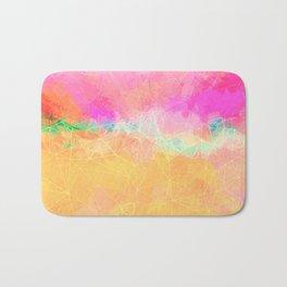 Modern Pastel Rainbow Cascade  Badematte