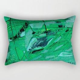 trama verde Rectangular Pillow