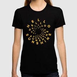 Hello Sunshine #minimal #typography #summervibes T-shirt