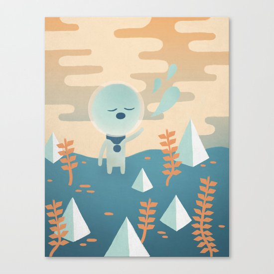 Space Traveler Canvas Print