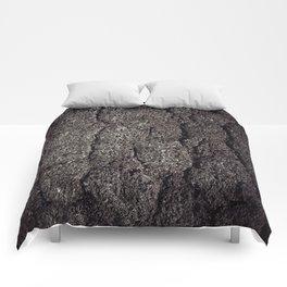 Cracked asphalt road Comforters
