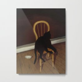 Black Cat on a Chair - Andrew L. von Wittkamp 1850-1875 Metal Print