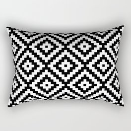 Aztec Block Symbol Ptn BW II Rectangular Pillow