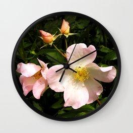 The Sally Holmes Single Rose Wall Clock
