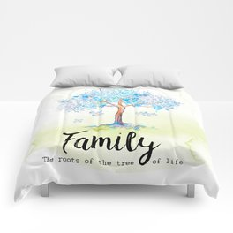 Family blue Comforters
