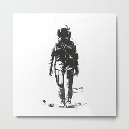 Astronaut cleaning the space Metal Print