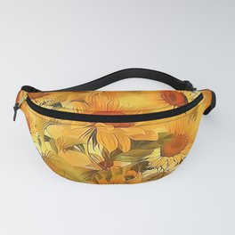 Sunshine Floral Abstract Fanny Pack