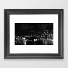 Sidney by night Framed Art Print
