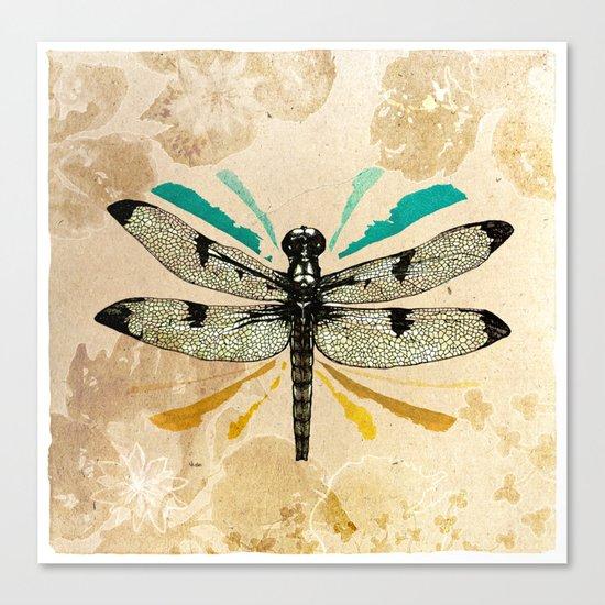 Autumn dragonfly Canvas Print