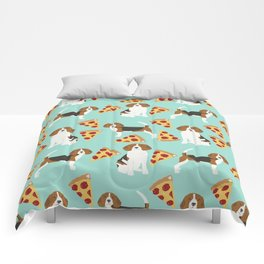 beagle pizza dog lover pet gifts cute beagles pure breeds Comforters