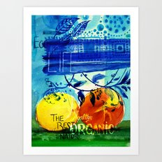 Organic Fruits Art Print