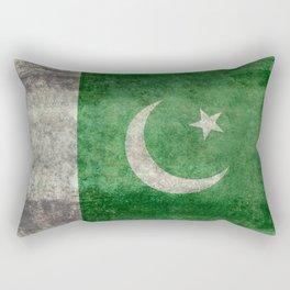 Flag of Pakistan, grungy retro style Rectangular Pillow