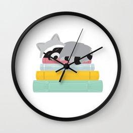 Sleepy Raccoon Wall Clock