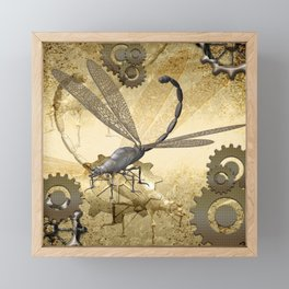Steampunk, dragonflies Framed Mini Art Print