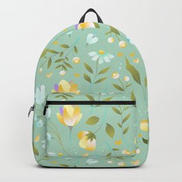 Colourscape Summer Floral Pattern Nebula Backpack