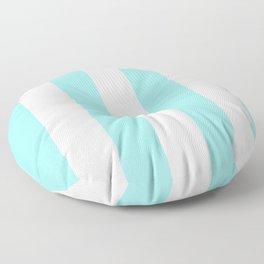 Turquoise Blue Stripes Floor Pillow