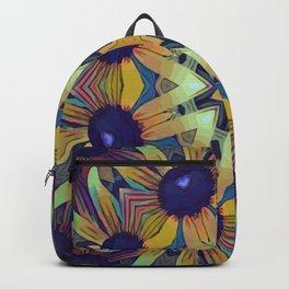 Circles of Black Eyed Susans Backpack