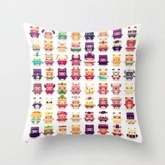 Alphabear Throw Pillow