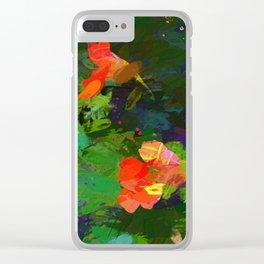 Nasturtiums in the garden Clear iPhone Case