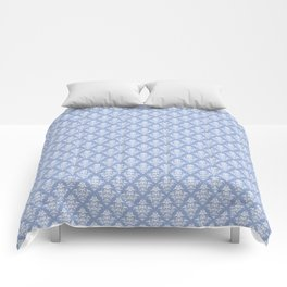 Damask Pattern | Serenity | Pantone Color of the Year 2016 Comforters