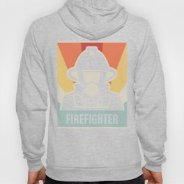 Vintage 70s Style FIREFIGHTER Poster Hoody
