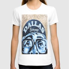 Dallas Strong MEDIUM Womens Fitted Tee White