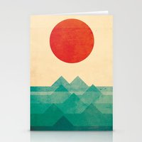 always Stationery Cards featuring The ocean, the sea, the wave by Picomodi