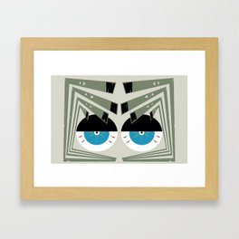 Zombie Eyes Framed Art Print