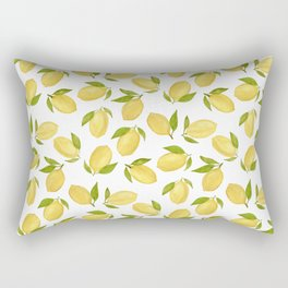 Watercolor lemon pattern Rectangular Pillow