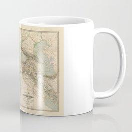 Turkey, Balkan Peninsula Map (1855) Coffee Mug