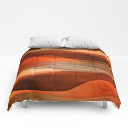 """""""Sea of sand and caramel waves"""" Comforters"""