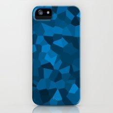 Blue Pixelated Geometric Pattern iPhone (5, 5s) Slim Case