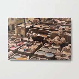 Leather Tannery - Fes, Morocco Metal Print
