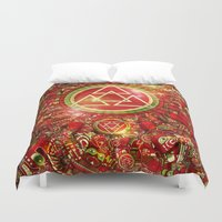 code Duvet Covers featuring Omega Code by Guilherme Marconi