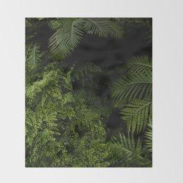 Tropical jungle. Throw Blanket