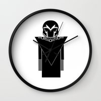 magneto Wall Clocks featuring Magneto by Vreckovka