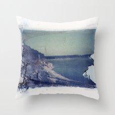 Lake Russell Polaroid Transfer Throw Pillow